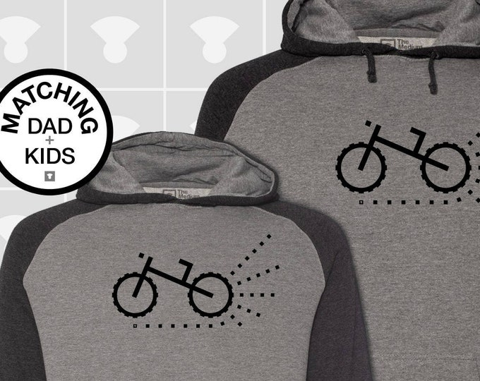 Featured listing image: Matching Dad and Me Hoodies - Mountain / Dirt Bike