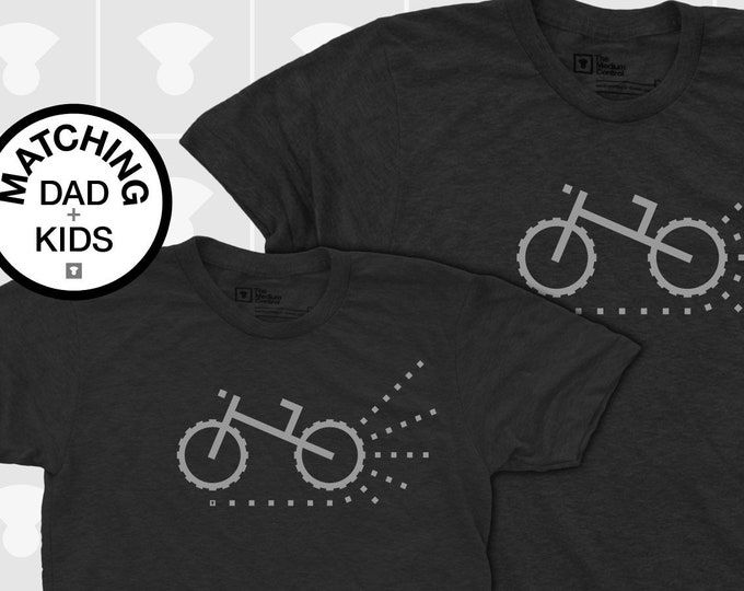 Featured listing image: Matching Dad and Me Shirts - Mountain / Dirt Bike