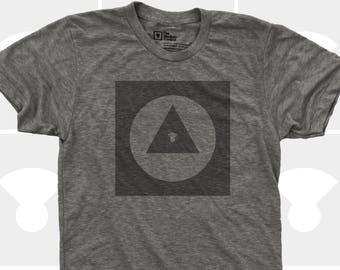 Men's TShirt Explorer Icon (Men), American Apparel T-Shirt S,M,L,Xl,Xxl, Travel, Road Trip, Bauhaus, Adventure Shirt (4 Colors) for Men
