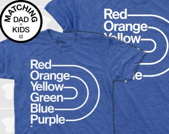 Matching Dad and Me Shirts - Rainbow Pride