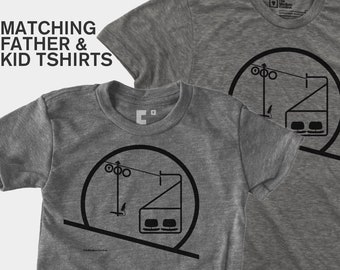 Matching Dad and Me Shirt - Eames Chairlift