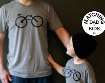 Matching Dad and Me Shirts - Bike