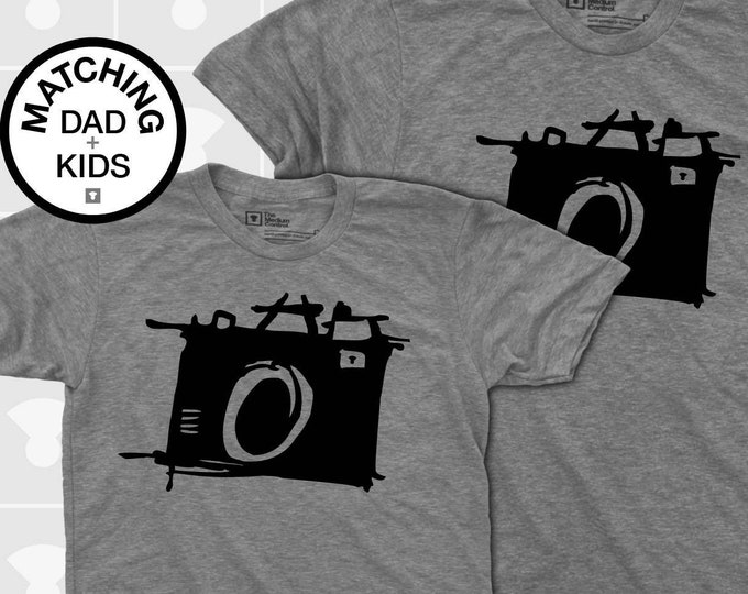 Featured listing image: Matching Dad and Me Shirts - Sketch Camera