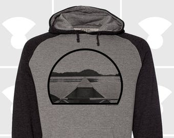 Canoe - Men's Hooded Pullover Raglan Sweatshirt