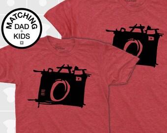 Matching Dad and Me Shirts - Sketch Camera