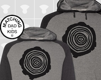 Matching Dad and Me Hoodie - Tree Rings
