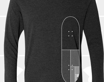 Mondrian Skateboard - Unisex Long Sleeve Shirt