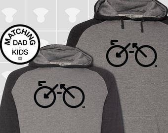 Matching Dad and Me Hoodie - Bike