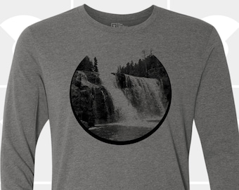 Waterfall Long Sleeve TShirt - Unisex