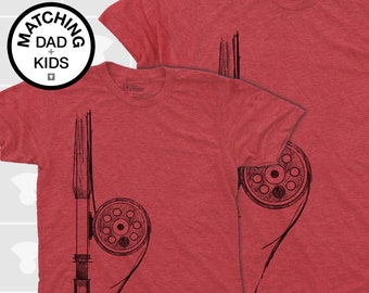 Matching Dad and Me Shirts - Fly Rod