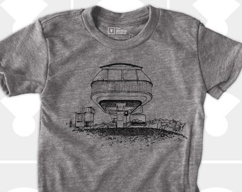 Spaceship Chairlift TShirt for Boys or Girls