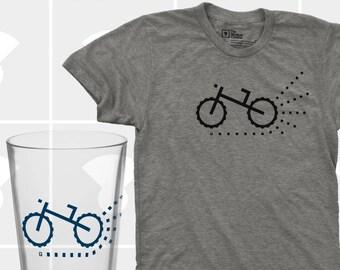 Mountain Bike & Pint Glass Set - Men