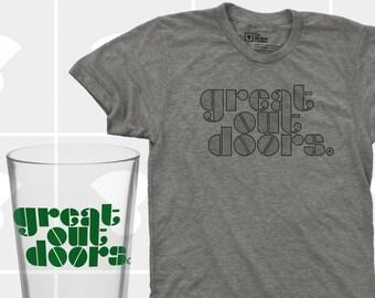 Great Outdoors Shirt & Pint Glass Set - Men