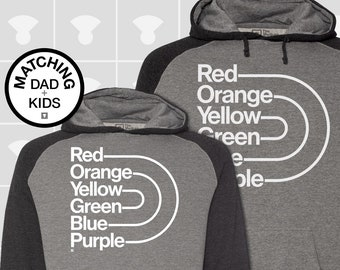Matching Dad and Me Hoodies - Gay Pride Rainbow
