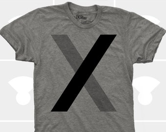 Minimalist Letter X TShirt - Men
