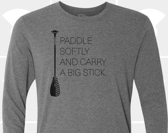 Men's Long Sleeve Shirt - Paddle Softly