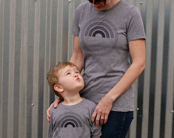 Mothers Day Gift:  Mommy and Me Shirts - Rainbow - Mother Daughter Shirts