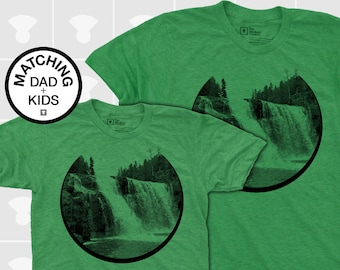 Matching Dad and Me Shirts - Waterfall