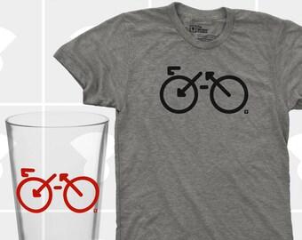 Bike Shirt & Pint Glass Set - Men