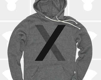 Pullover Hoodie - Minimalist Letter X