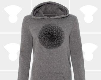 Sweatshirt Dress - Flora + Fauna: Dahlia - Hoodie Dress - Women - Flower Sweaterdress