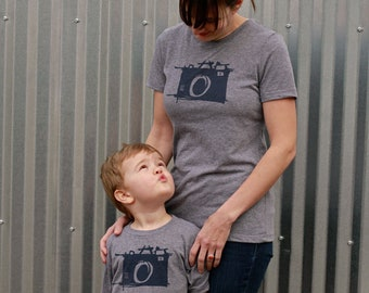 Mommy and Me Shirts - Sketch Camera - Matching Shirts