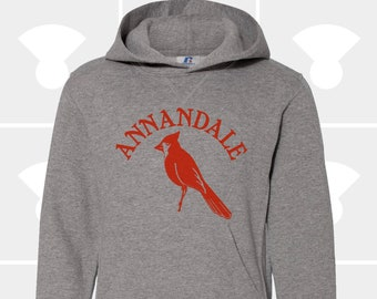 Annandale Cardinals - YOUTH - Hooded Pullover Sweatshirt - Cardinal