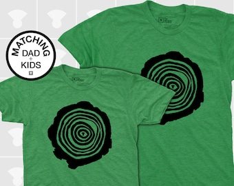 Matching Dad and Me Shirts - Tree Rings