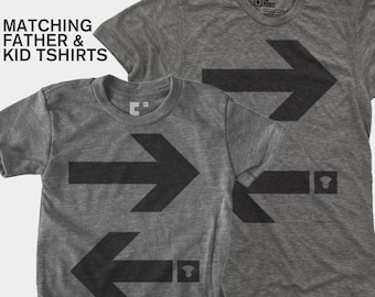 Matching Dad and Me Shirt - Arrows