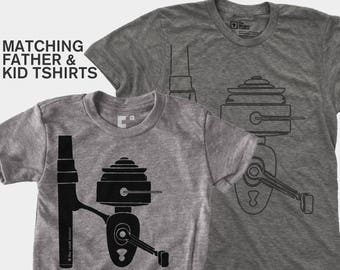 Matching Dad and Me Shirt - Fishing Reel