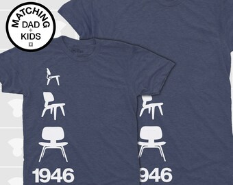 Matching Dad and Me Shirts - 1946 Eames Chairs