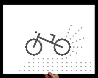 B&W Mt Bike Art Print