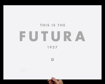 Futura, Art Print, Typography Print, Screenprint, Print, Poster, Office, Home, Living Room, Wes Anderson, Kitchen, Graphic Design, White