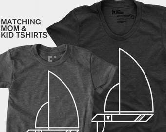 Sailboat - Matching Shirts (Women & Kid)