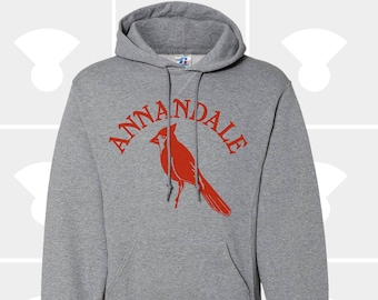 Annandale Cardinals Hometown - Hooded Pullover Sweatshirt