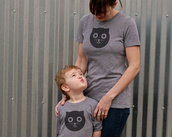 Mothers Day Gift: Mommy and Me Shirts - Watson the Cat Shirt - Mothers Day Gift from Son