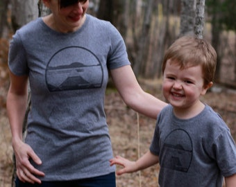 Canoe Mommy and Me Shirts - Matching T-Shirt Set