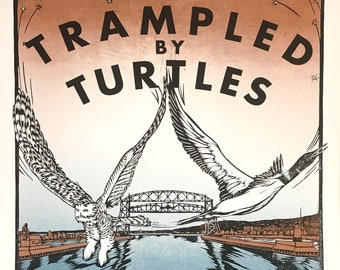 TRAMPLED BY TURTLES - Screen Printed Poster - Duluth 2019 Gig Poster, tbt