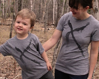 Mothers Day Gift: Mommy and Me Shirts - Abstract X - Matching Shirts