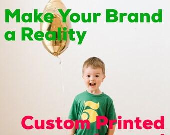 Custom Shirt - Custom Printed Shirts with Your Business Logo - Custom Business T-Shirt with Logo - Screen Printed
