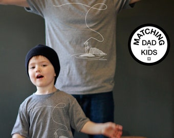 Matching Dad and Me Shirts - Fly Fishing