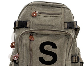 Backpack, Personalized Backpack, Monogrammed Backpack, Backpack Kids, Canvas Backpack, Small Backpack, School Backpack, Backpack Men