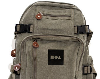 Bauhaus Shapes - Lightweight Canvas Backpack
