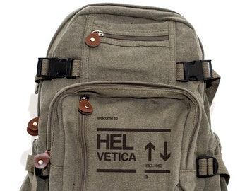 Helvetica - Lightweight Canvas Backpack