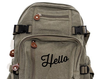 Scrip Hello - Lightweight Canvas Backpack
