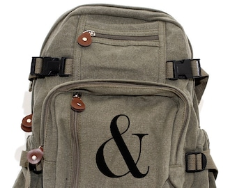 Ampersand - Lightweight Canvas Backpack