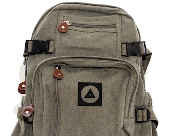 Bauhaus Eye - Lightweight Canvas Backpack