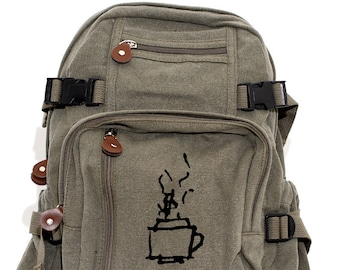 Coffee & Tea - Lightweight Canvas Backpack