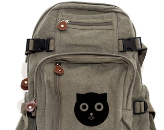 Watson the Cat - Lightweight Canvas Backpack
