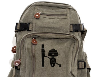 Fishing Reel - Lightweight Canvas Backpack